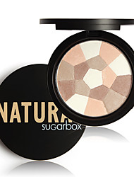 1Pcs Sugar Box Multi-Colored Pressed Powder Nude Wear Nude Glow Finishing Perfescting Setting Powder