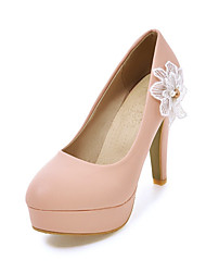 Women's Heels Spring Summer Fall Other PU Office & Career Party & Evening Dress Chunky Heel Others Yellow Pink White Other