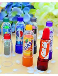 6Pcs Makeup Change Color Cola Sweet Cute Moisturizer Faint Scent Lip Balm Lipstick