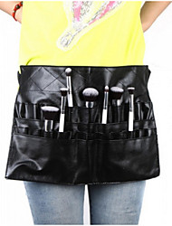 1Pcs Black Two Arrays Makeup Brush Holder Professional Pvc Apron Bag Artist Belt Strap Protable Make Up Bag Cosmetic Brush Bag