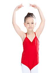Ballet Leotards Women's Children's Training Cotton Lace Lycra Criss-Cross Lace 1 Piece Sleeveless Leotard