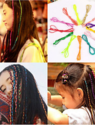 10 Pcs And Distribute Artifact Dish Hair Hair Ribbon Rope Weaving Braid Hair Rope Rope Color Random