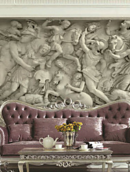Art Deco Wallpaper For Home Wall Covering Canvas Adhesive required Mural Gray Large Relief Background XXXL(448*280cm)XXL(416*254cm)XL(312*219cm)