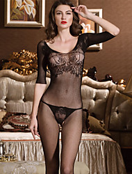 SKLV Women Nylon Cut Out Backless Gartered Lingerie/Lace Lingerie/Ultra Sexy/Teddy Nightwear