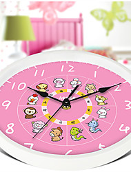 1pc  Quiet Simple Lovely Children'S Cartoon Creative Living Room Wall Clock Clock Creative Quartz Clock
