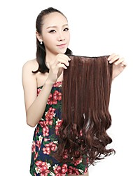 1Pcs 110g 20'' Clip in on Synthetic Hair Weft Extensions Curl Wavy Hair Pieces M2/30#
