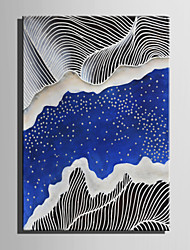 E-HOME Oil painting Modern Abstract Blue River Pure Hand Draw Frameless Decorative Painting