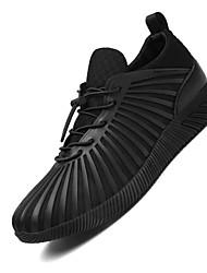 Femme-Sport-Noir Rouge-Talon Plat-Confort-Chaussures d'Athlétisme-Tissu