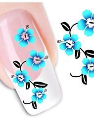 1sheet  Water Transfer Nail Art Sticker Decal XF1466