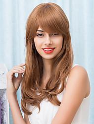 Charming Long Golden Capless Wigs Natural Wave Human Hair 2017