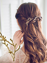 1 Pcs Antlers Branch Alloy Edge Clip Hairpin Princess Clip Accessories Fashion And Personality