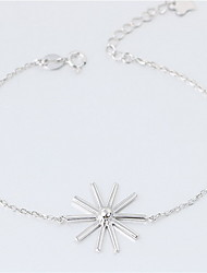 Women's Chain Bracelet Fashion Sterling Silver Flower Jewelry For Gift Valentine