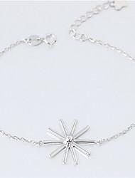 Femme Chaînes & Bracelets Mode Argent sterling Forme de Fleur Bijoux Pour