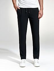 Hombre Tallas Grandes Delgado Chinos Pantalones de Deporte Pantalones,Un Color Trabajo Discoteca Casual/DiarioSencillo Chic de Calle