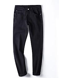 Hommes Grandes Tailles Mince Jeans Pantalon,Vintage simple Street Chic Décontracté / Quotidien Soirée / Cocktail Soirée Couleur Pleine