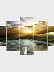 Impression sur Toile Paysage Loisir Moderne Classique,Cinq Panneaux Toile Toute Forme Imprimer Art Décoration murale For Décoration