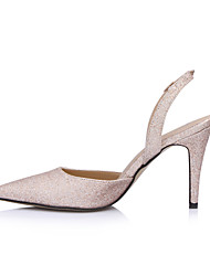 Women's Sandals Summer Slingback Synthetic Wedding Party & Evening Dress Stiletto Heel Gold