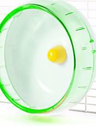 Грызуны Колесо для упражнений Пластик Зеленый Синий Розовый Желтый