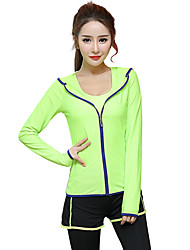 Women's Long Sleeve Running Hoodie Tops Breathable Quick Dry Sports Wear Exercise & Fitness Running Modal Slim