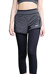 Women's Running Tights Quick Dry Breathable Crop Leggings Bottoms Clothing Suits for Yoga Exercise & Fitness Running Modal Polyester Tight