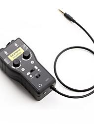 smartrig saramonic além misturador XLR / 3.5mm microfone de áudio de 2 canais com pré-amplificador de alimentação fantasma&interface