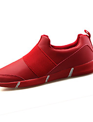 Men's Sneakers Spring Fall Other PU Casual Split Joint Black Red White