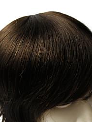 6 * 8inch мужчины тупею хорошее качество человеческой девственной волосы прямые