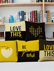 5pcs Simple Modern LOVE Pillowcase Home Decor Pillow Cover