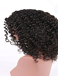 Kinky Curly Natural Black Woman Brazilian Human Virgin Hair Glueless Full Lace Human hair Wig Wholesale