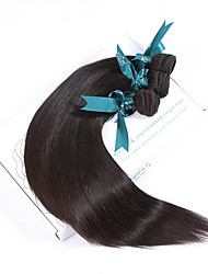 Natural Color Hair Weaves Malaysian Texture Straight 12 Months 3 Pieces hair weaves