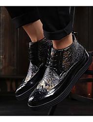 Herren-Sneaker-Lässig-PUKomfort-Schwarz Blau Gold
