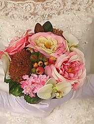 1 Ramo Plástico Outras Rosas Flores artificiais 14*14*26