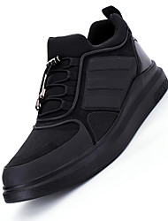 Femme-Sport-NoirConfort-Chaussures d'Athlétisme-Cuir