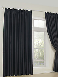 Two Panels Curtain Neoclassical , Solid Bedroom Rayon Material Blackout Curtains Drapes Home Decoration For Window