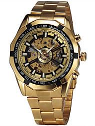 Муж. Модные часы Наручные часы Механические часы С автоподзаводом швейцарцы Оригинальный рисунок сплав Группа Винтаж Повседневная