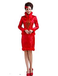 Lolita Classica e Tradizionale Ispirazione Vintage Elegant Cosplay Vestiti Lolita Con stampe Manica lunga Lunghezza media Abito Per