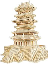 Puzzles Puzzles en bois Blocs de Construction Jouets DIY  Bâtiment Célèbre Architecture Chinoise Maison 1 Bois IvoireMaquette & Jeu de