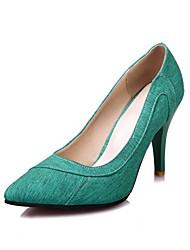 Черный Серый Зеленый Розовый-Для женщин-Свадьба Для праздника Для вечеринки / ужина-Ткань-На шпильке-Удобная обувь-Обувь на каблуках