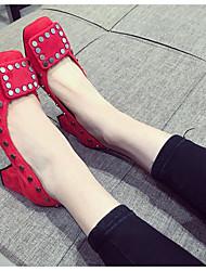 Damen-High Heels-Outddor-KunstlederAndere-Schwarz Rot