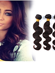 3Pcs/Lot Virgin Human Hair Weaves Body Wave Hair Weft Brazilian Hair Bundles Hair Dark Brown Human Hair Weaves