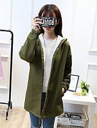 Sign Girls 2016 new fall and winter clothes in the long section plus thick velvet cardigan jacket Slim female junior high school students