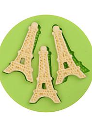3 эйфелевых башни формы помадные силиконовые формы для пирога конфеты ледяной шоколад печенье кекс пирог пицца цвет случайный