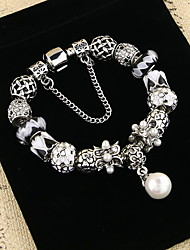 Bracelet Chain Bracelet Alloy Flower Natural Gift Valentine Jewelry Gift Silver,1pc