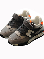 Boy's Sneakers Comfort Leather Outdoor Casual Athletic Black Gray Running