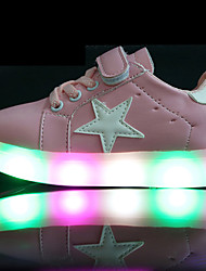 Kids Boys Girl's Sneakers Spring Summer Fall First Walkers Leather Outdoor Sport Glowing Shoes Casual Low Heel LED Black Green Pink White Walking