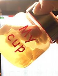 Transparent Cartoon To-Go Outdoor Drinkware, 150 ml Portable Leak-proof Glass Juice Water Water Bottle Tumbler