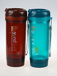 Airtight Plastic Water Bottle Filtered Sport Bottle with String 600ml