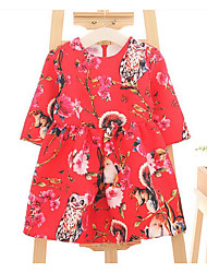 Girl's Casual/Daily Floral Dress,Rayon Summer Half Sleeve