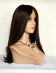 Straight Human Hair Lace Wigs Indian Virgin Hair Lace Front Wigs For Women