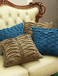 1 pcs Leather/suede Pillow CaseSolid Textured Traditional/Classic with  Concentric Fold  Style  Random Colors